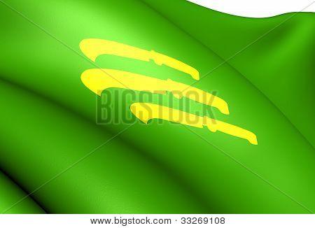 Flag Of Vik, Norway.