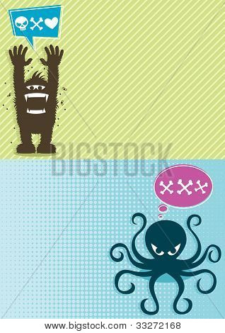 Monster Hintergrund 1