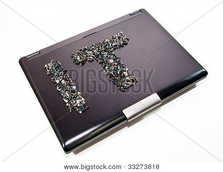 It On Laptop Cover