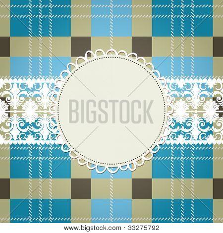 Textile Hintergrund, weiße Spitze frame