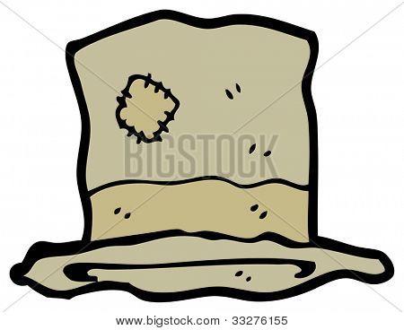 cartoon hobo hat