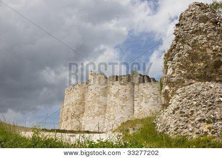 Chateau Gaillard defending walls