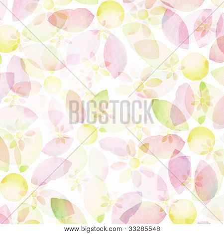 Designed watercolor flower background, texture