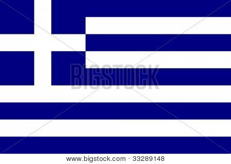 Souveräner Staatsflagge Griechenlands in den offiziellen Farben.
