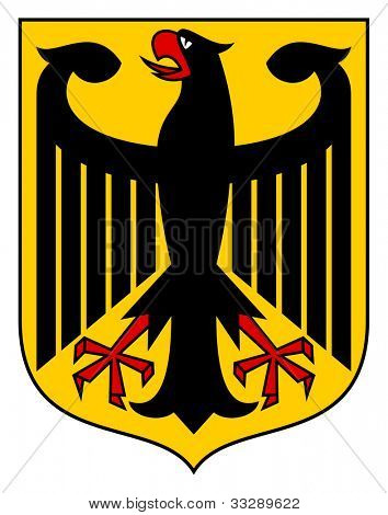Germany coat of arms, seal or national emblem, isolated on white background.