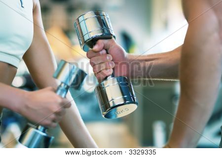 Lifting The Dumbbells