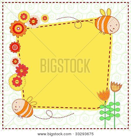 Lovely flowers and the cute bees