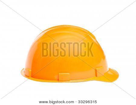Capacete de construção no fundo branco