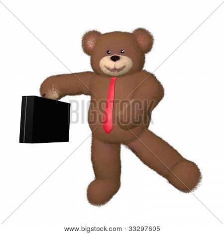 Teddy Bear Businessman Dancing