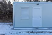 Cargo Container Converted In Living Space At Winter poster