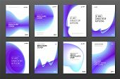 Corporate Brochure Cover Design Templates Set For Business. Good For Annual Report, Magazine Cover,  poster