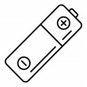 Used Battery Icon. Outline Used Battery Vector Icon For Web Design Isolated On White Background poster