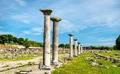 Ruins Of The Ancient City Of Philippi. Unesco World Heritage In Macedonia, Greece poster