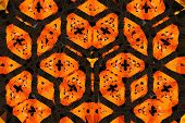 The Abstract Background Kaleidoscope With Beautiful Color Symmetrical Floral Ornament poster