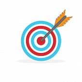 Target Vector Icon Isolated. Flat Target Icon. Target For Sport Archery. poster