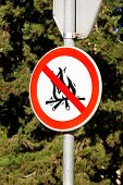 Sign Or Symbol No Campfire, Do Not Light A Fire. No Campfires Sign, In Nature By Sea. No Open Flame  poster