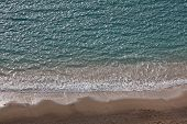 Empty Mediterranean Sea Beach Coast French Riviera poster
