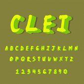 3d Font, 3d Alphabet, 3d Text, 3d Unique. poster