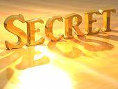 Постер, плакат: 3D секретный Золотой текст