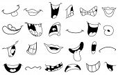 foto of manga  - Outlined cartoon mouth set - JPG
