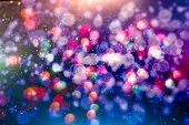 Magic Background With Color Festive Background With Natural Bokeh And Bright Golden Lights. poster