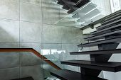 Staircase Luxury Home In Modern Villa Beautiful Interior. poster