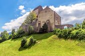 Sargans Castle In St Gallen Canton, Switzerland. This Medieval Castle Is A Swiss Landmark. Scenic Vi poster