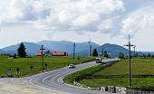 Tihuta Pass, Romania - June 19, 2019: Beautiful Landscape In Tihuta Pass Between Transylvania And Mo poster