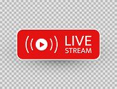 Live Stream Icon. Live Streaming, Video, News Symbol On Transparent Background. Social Media Templat poster
