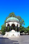 German Fountain in old Hippodrome, Sultanahmet Square, Istanbul, Turkey. Fountain was donated by the poster