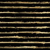Gold Gliterring Shining Stripe Grunge Seamless Pattern. Golden Stripes On Black Background. Hand Dra poster
