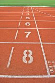 foto of 8-track  - Vertical line of running track from 8 to 1 - JPG