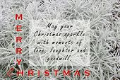 Christmas & New Year Inspirational Quote - May Your Christmas Sparkle With Moments Of Love, Laughter poster