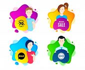 Exclusive Sale. People Shape Offer Badge. Special Offer Price Sign. Advertising Discounts Symbol. Dy poster