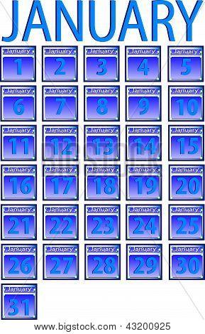 Calendar for January