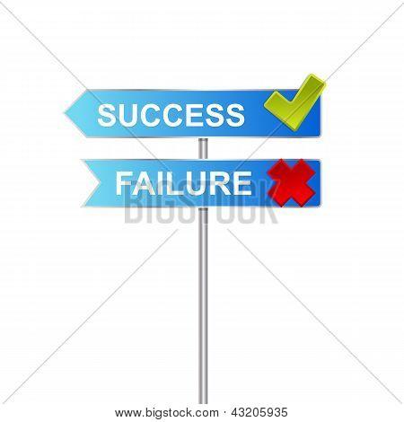 success failure signs
