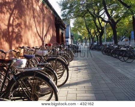 Beijing China - Bicycles In Beijing
