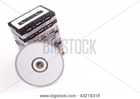 Photo of Audio K7 to white CD
