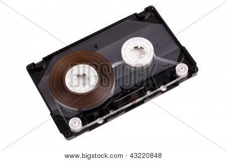 Photo of audio cassette interior