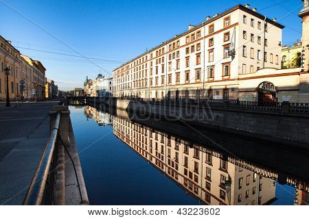 ST.PETERSBURG, RUSSIA - MAY 21: Griboyedov Canal Embankment, May 21, 2012 in St.Petersburg, Russia. Canal constructed in 1739 on the basis of the existing river Krivusha. In 1764�¢??1790 was deepened.