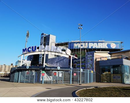 MCU ballpark a minor league baseball stadium for Brooklyn Cyclones