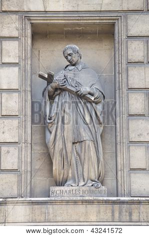 Statue Of St. Carlo Borromeo, Madeleine Church, Paris
