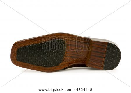 Shoes' Sole Isolated On The White Background