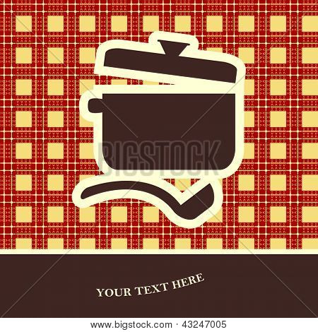 cookery card. vector illustration