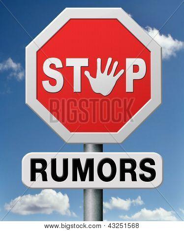 stop rumors and gossip