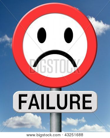 failure fail exam or attempt can be bad especially when failing ian important job task or in your study failing an exam. You feel frustrated and being a looser
