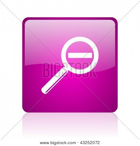 magnification violet square web glossy icon