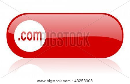com red web glossy icon