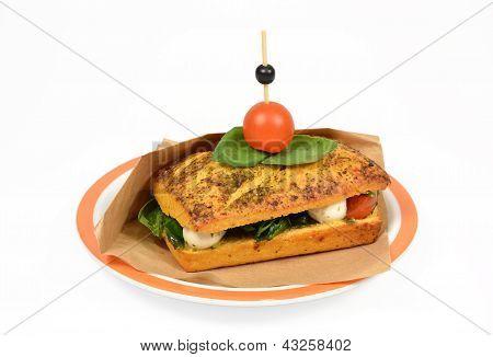Toast Caprese.