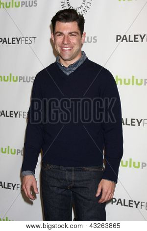 LOS ANGELES - MAR 11:  Max Greenfield arrives at the
